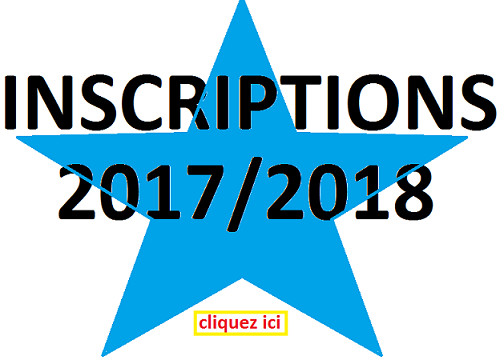 Inscriptions 2017/2018. Encore quelques places.