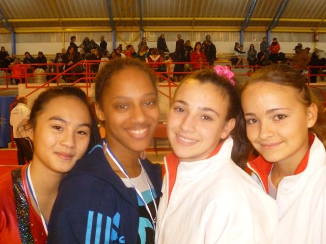 4 filles, 4 podiums,3 titres !!