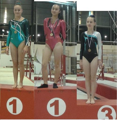 Ch. Départemental des Individuelles Féminines. Les premiers podiums !!