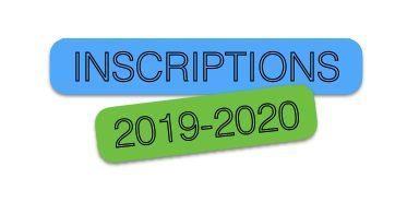 Inscriptions 2019/2020