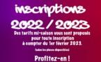 Inscriptions - Tarifs mi-saison